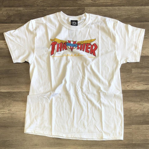 Thrasher Venture Collab White Tee