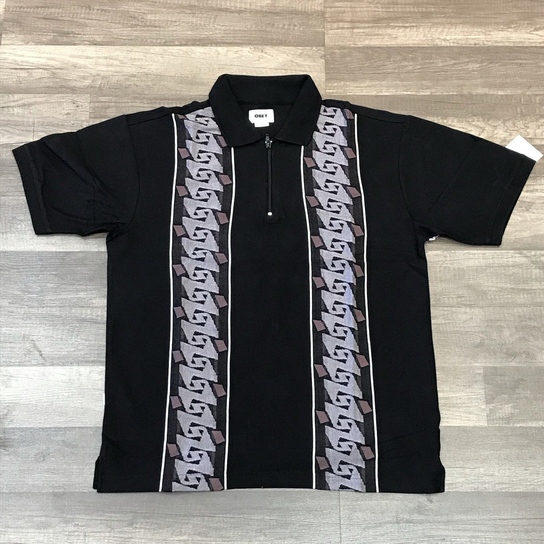 Obey Penn Polo SS Black