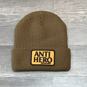 ANTI-HERO BEANIE RESERVE PATCH BWN/ORG