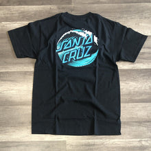 Load image into Gallery viewer, Santa Cruz Wave Dot Blk Tee