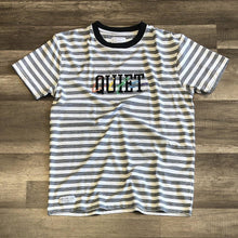 Load image into Gallery viewer, The Quiet Life Rainbow Embroidered Stripe Tee