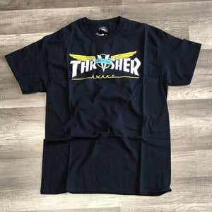 Thrasher Venture Collab Black Tee