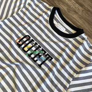 The Quiet Life Rainbow Embroidered Stripe Tee