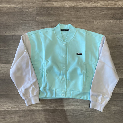 Obey Wrigley Fleece Jacket Ligt Blue