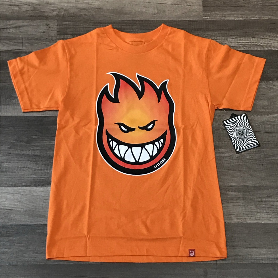 SPITFIRE S/S BIG HEAD FADE FILL ORANGE