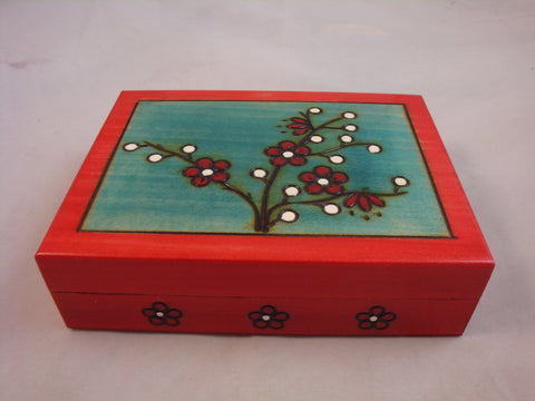 Handmade Sakura Cherry Blossom Keepsake and Jewelry Box