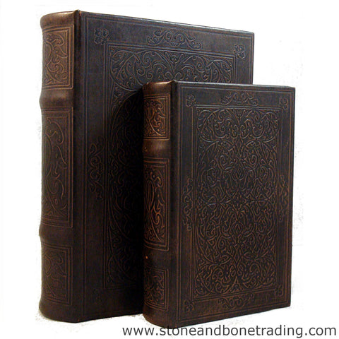 art nouveau embossed scroll design book box