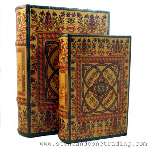 Book of Kells Celtic Knot Decorated Book Box Set