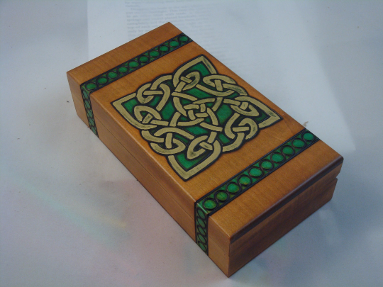 Celtic Knot Design Polish Wooden Keepsake Box
