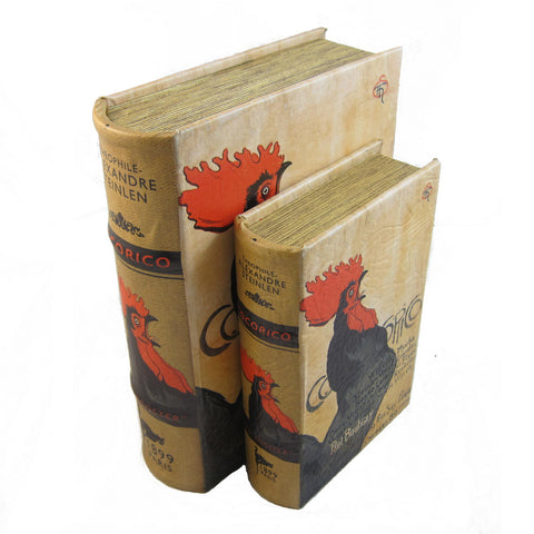 Cocorico Magazine Cover Rooster by Steinlen Book Box