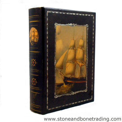 sailboat colonial clipper nautical book box
