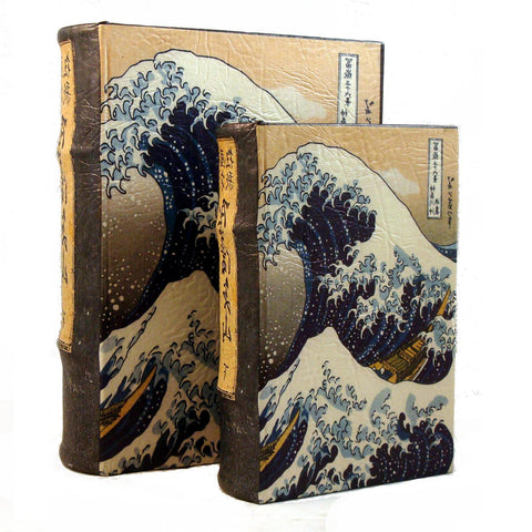 Great Wave off Kanagawa Woodblock Print by Hokusai Book Box