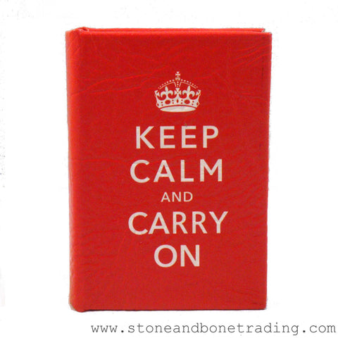 keep calm and carry on slogan book box