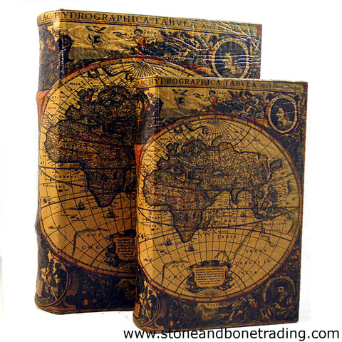 Map of the World from the atlas Atlantis Maioris Appendix by Hendrik Hondius Book Box