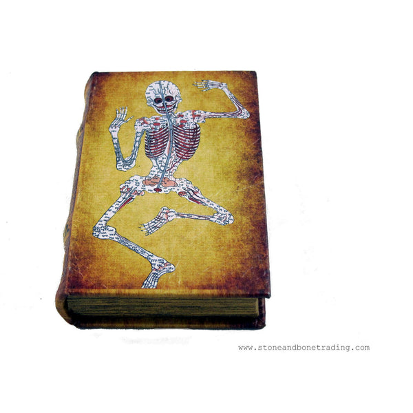 Traditional Tibetan Medicine Poster Book Box with Medical Skeleton