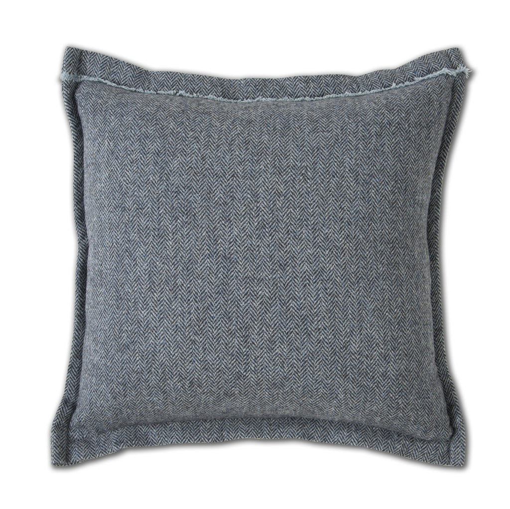 Harris Tweed Quot Skye Blue Quot Herringbone Pillows Donegal