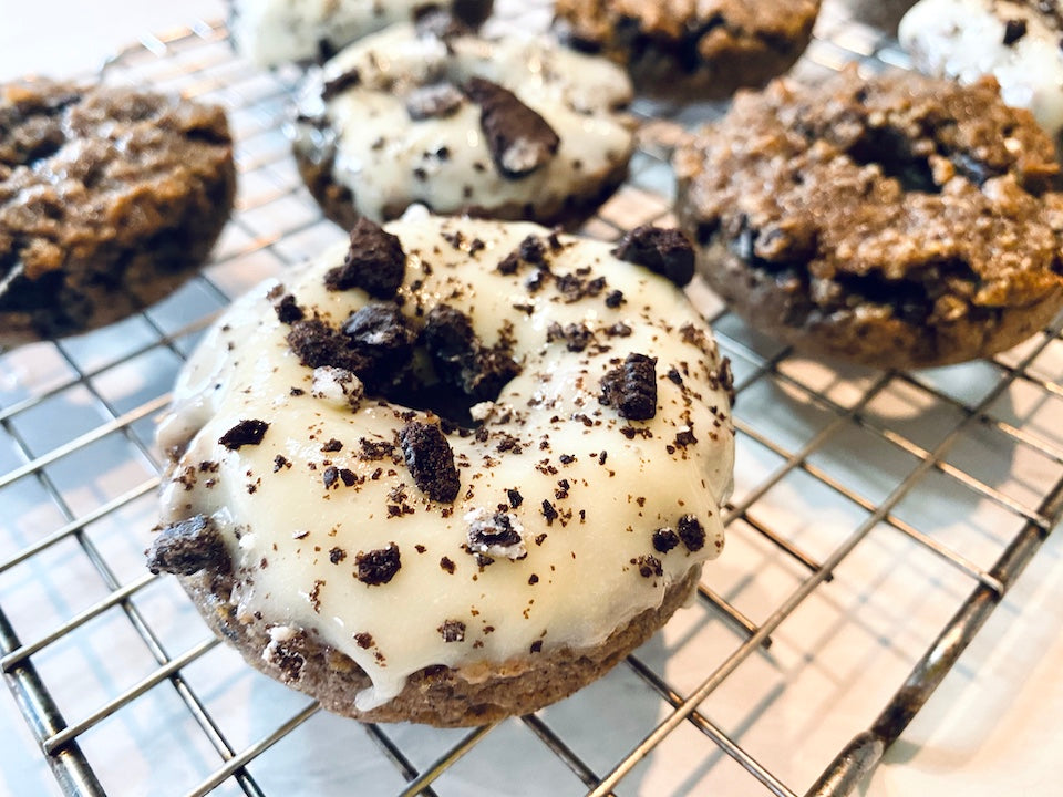 ATH Post and Collagen Cookies and Cream Donuts
