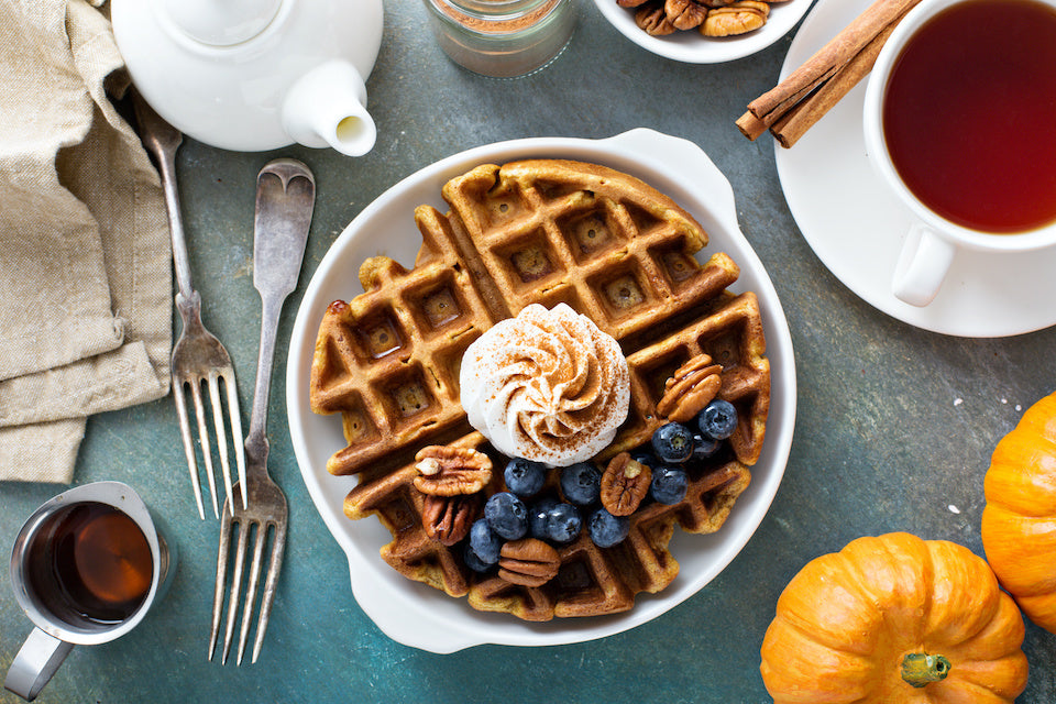 Oat Flour Waffles with Protein