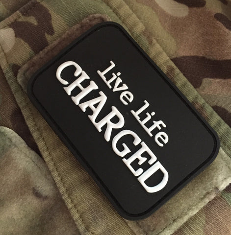 Live LIfe Charged™ PVC Patch