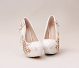 Luxurious Beaded Peacock Bridal High Pumps Shoes