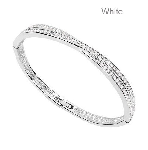 AAAA+ Cubic Zirconia Gold Bangle Bracelet