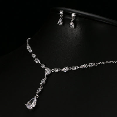 JESS - AAA Cubic Zirconia Necklace and Earrings Bridal set