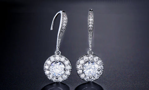 CAMILA - AAA Cubic Zirconia Bridal Drop Gold Earrings