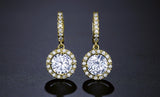 CAMILA - AAA Cubic Zirconia Bridal Gold Earrings