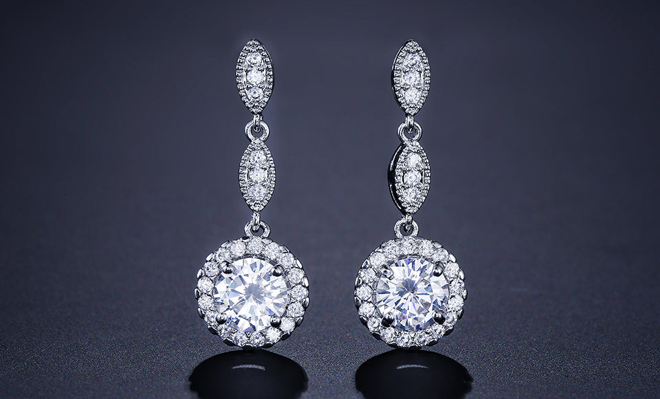 CAMILA - AAA Cubic Zirconia Bridal Studs Gold Earrings