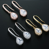JESS - AAA CZ Bridal Gold Drop Earrings
