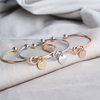 Bridesmaid Personalized Initial Knot Bracelet + FREE Ultimate Wedding Planning Guide