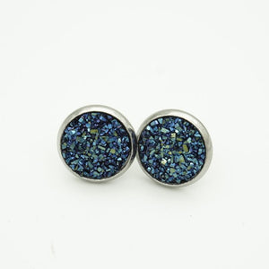 ADELE - Druzy 12mm Studs Earrings