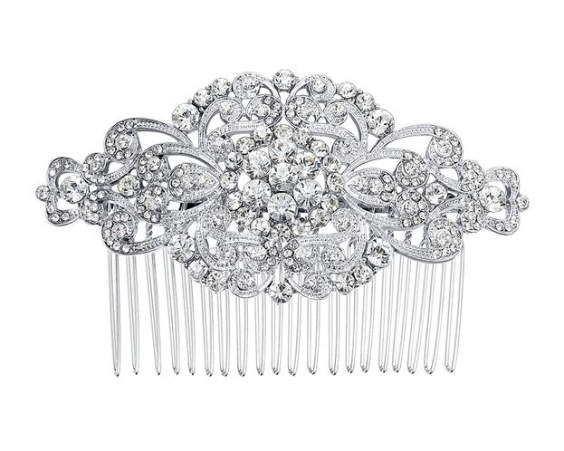 Luxurious Bridal Rhinestone Hair Comb