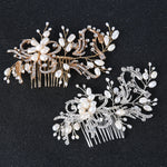 Bridal Rhinestone and Freshwater Pearl Hair comb