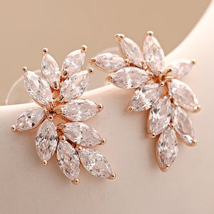 Rose Gold AAA CZ Stud Earrings