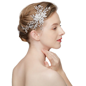 Pearls and Rhinestone Bridal Hairpiece