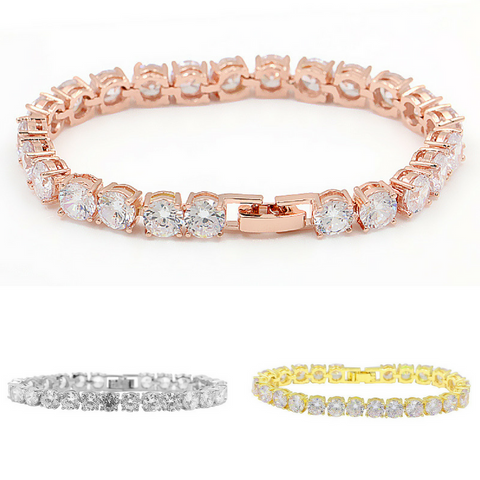 AAA High Quality Round Cut Cubic Zirconia CZ Tennis Bracelet