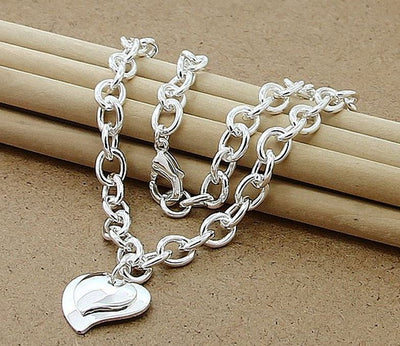 KELLY - Silver Heart Bridesmaid Bracelet