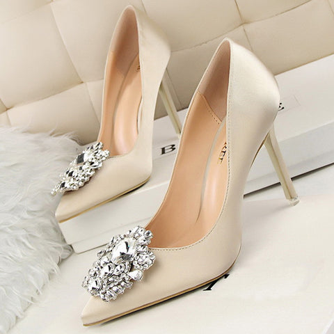Rhinestone Wedding Shoes - 7 different colors