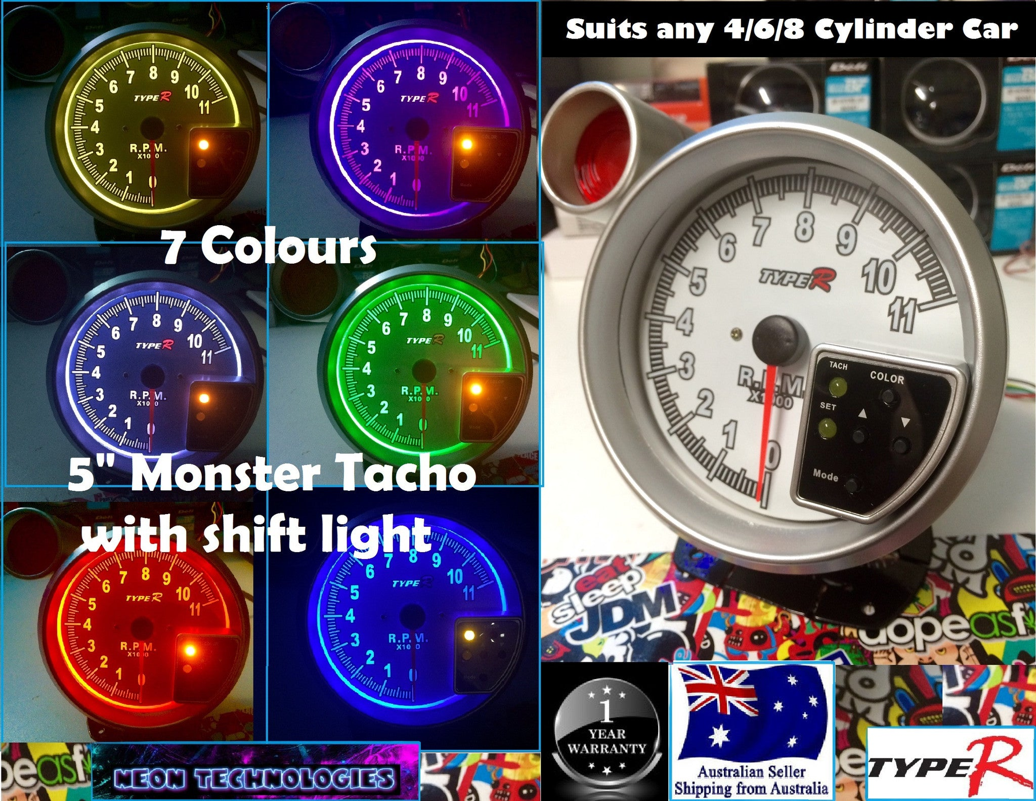 Monster tacho shift light 5 monster tacho shift light 7 colours sciox Choice Image