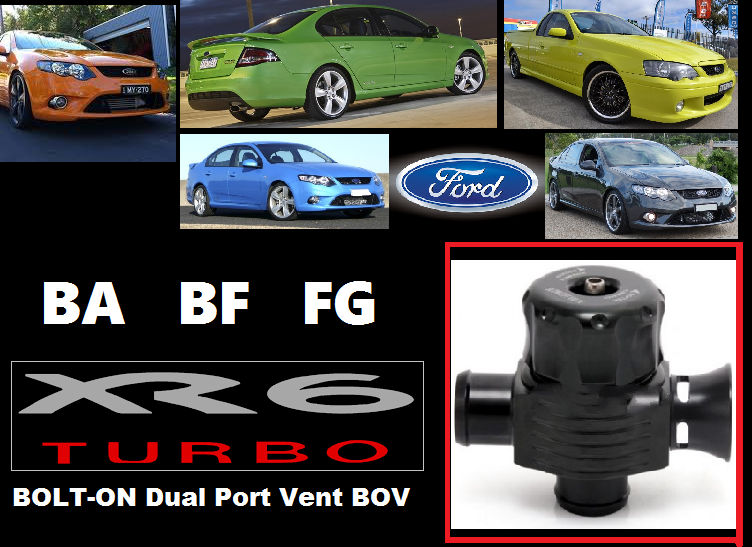 Ford Dual Port Blow Off Valve (BOLT ON for XR6 Turbo)