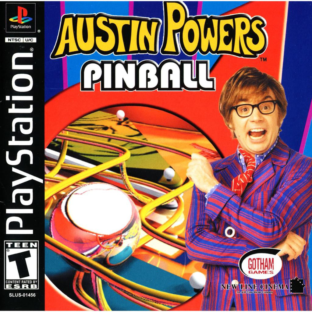 Austin-Powers-Pinball - PlayStation 1 Game - Complete