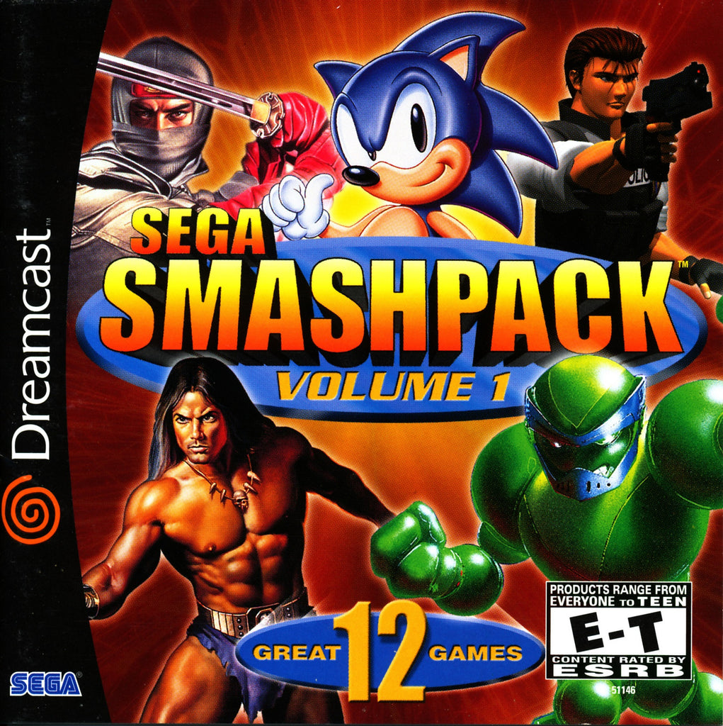 Sega Smash Pack Volume 1 - Dreamcast Game - Complete
