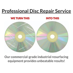 74 Discs - Professional Disc Repair - Scratch Removal Service
