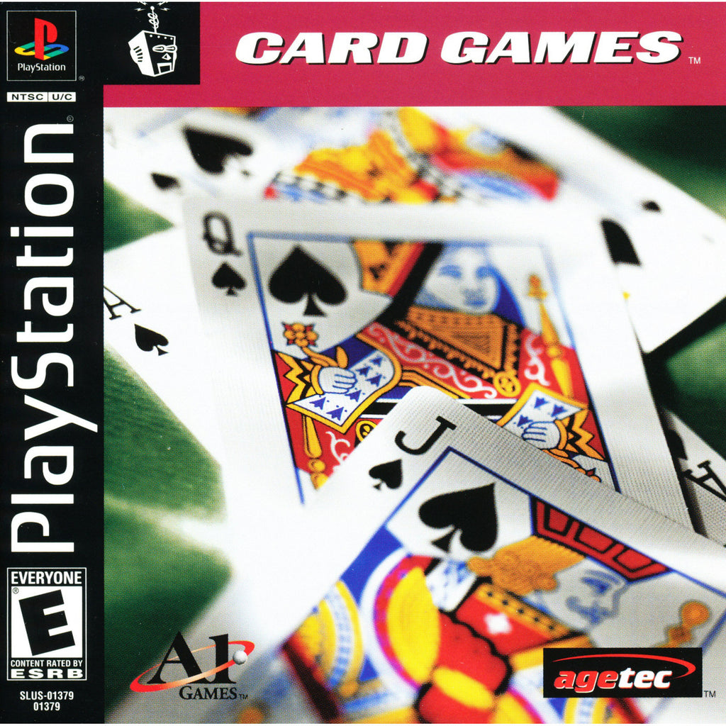 Card Games - PlayStation 1 Game - Complete