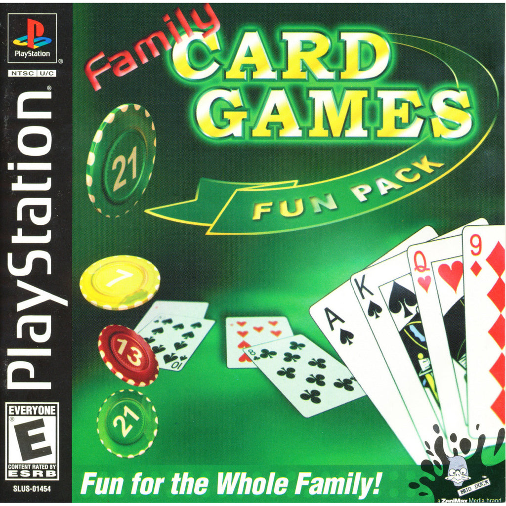 Family Card Games Fun Pack - PlayStation 1 Game - Complete