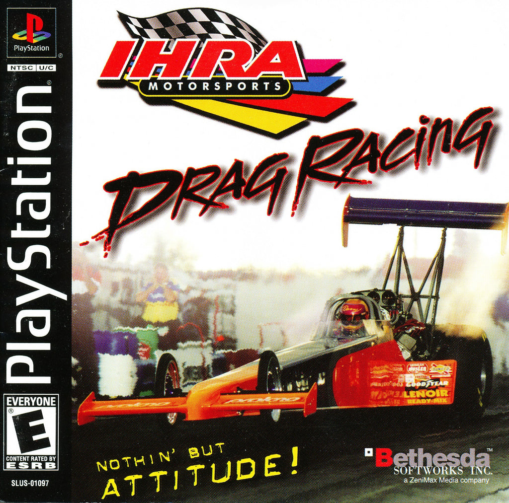 IHRA Motorsports Drag Racing - PS1 Game - Complete