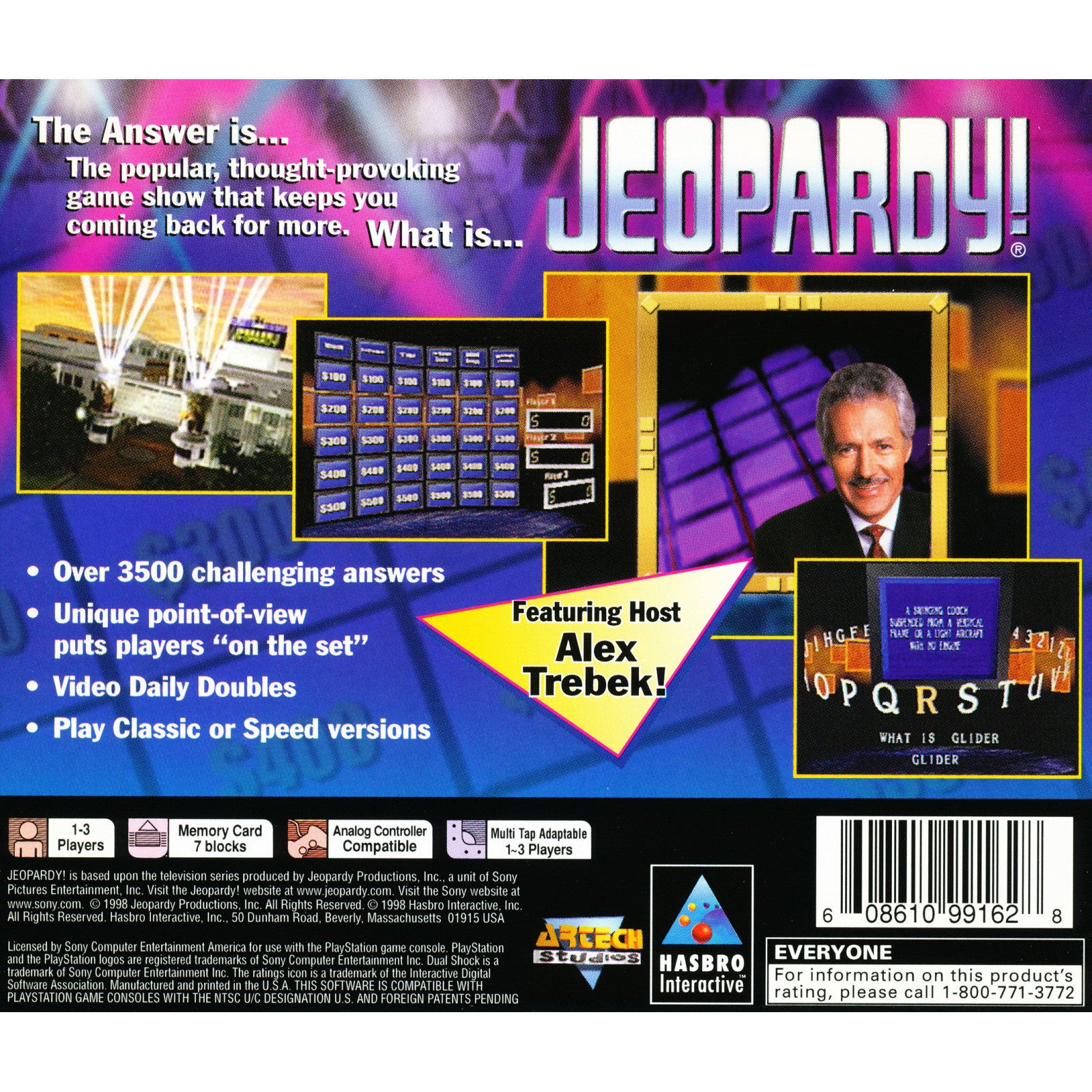 Jeopardy! - PlayStation 1 Game - Complete
