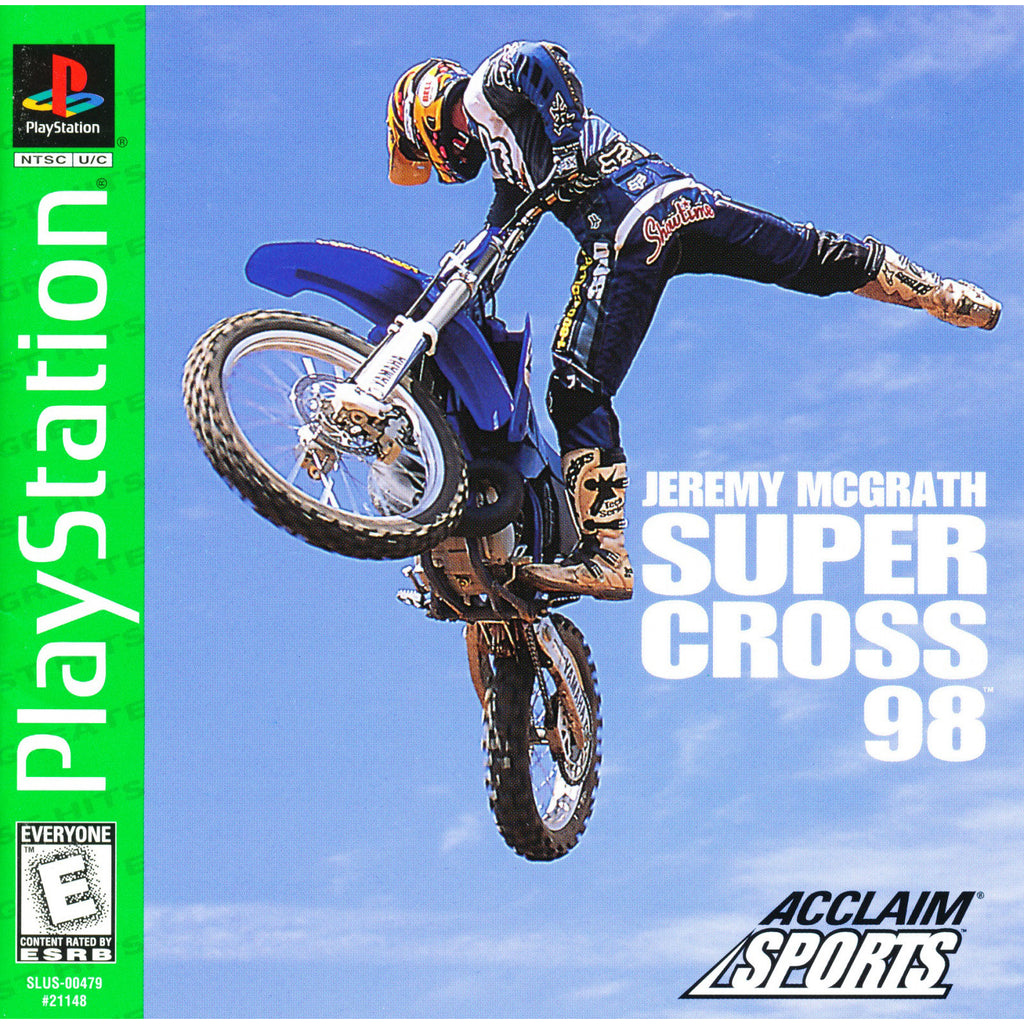 Jeremy McGrath Supercross '98 - PlayStation 1 Game - Complete