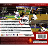 MLB 2002 for PlayStation 1 back